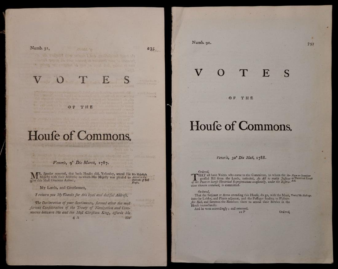[British House of Commons, 18th c., Lot of 5] - 3