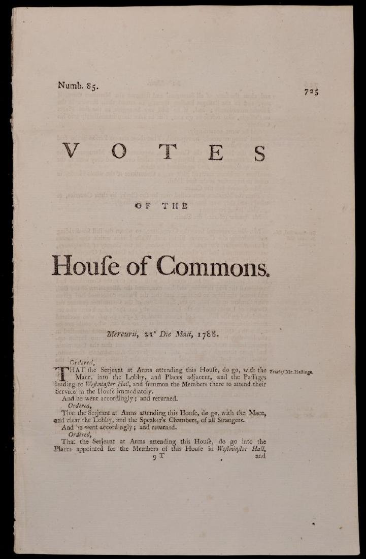 [British House of Commons, 18th c., Lot of 5] - 4