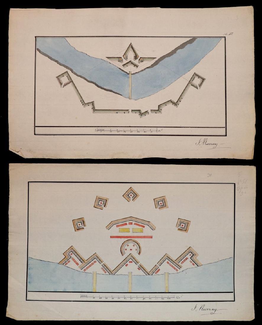 [Manuscript Drawings, Fortification, 18th c.] - 2