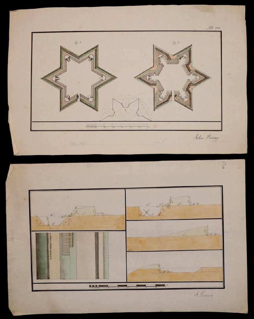 [Manuscript Drawings, Fortification, 18th c.] - 4