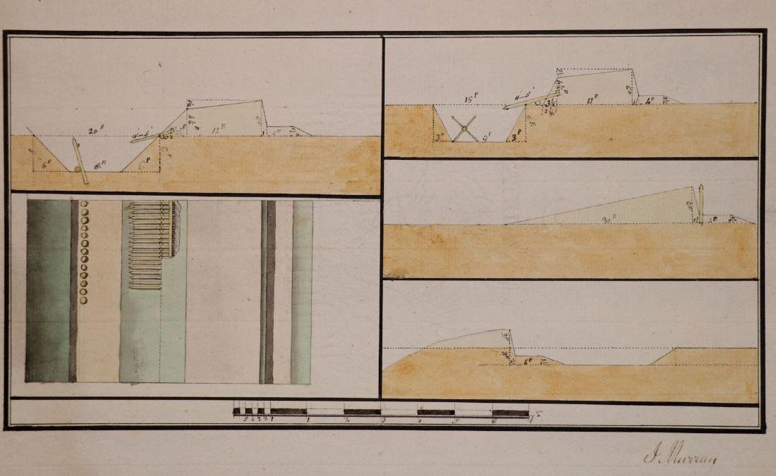 [Manuscript Drawings, Fortification, 18th c.] - 6