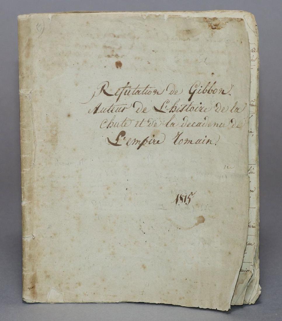 Original Manuscript.  Gibbon's History
