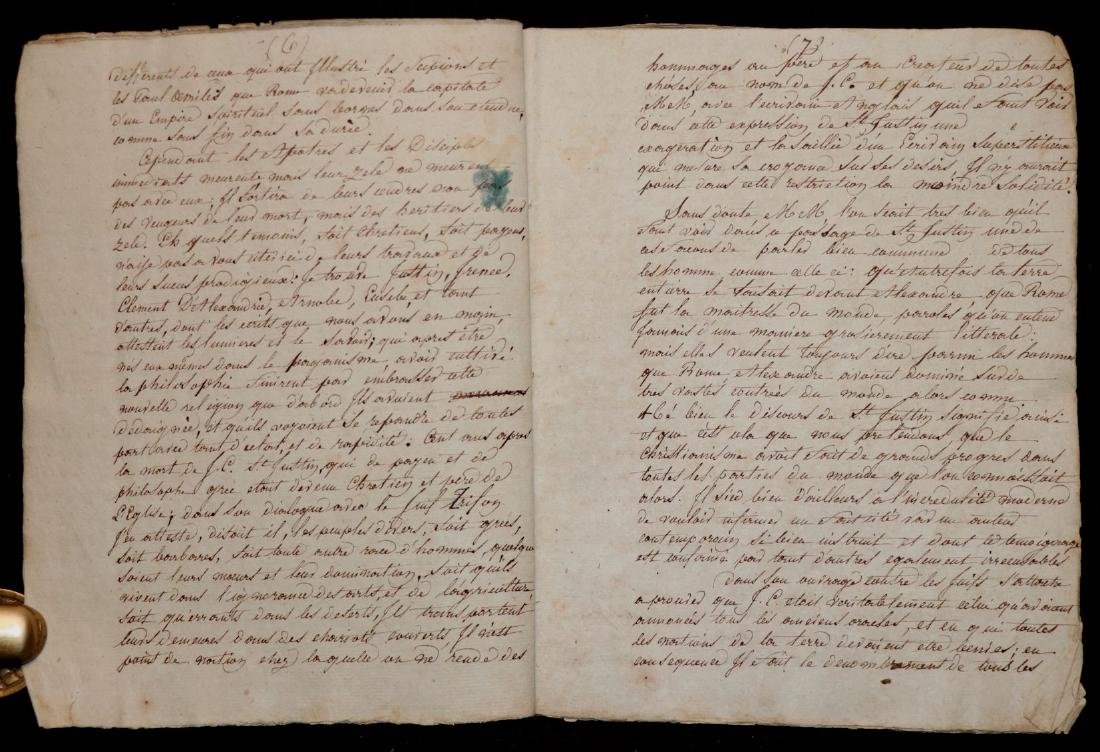 Original Manuscript.  Gibbon's History - 3