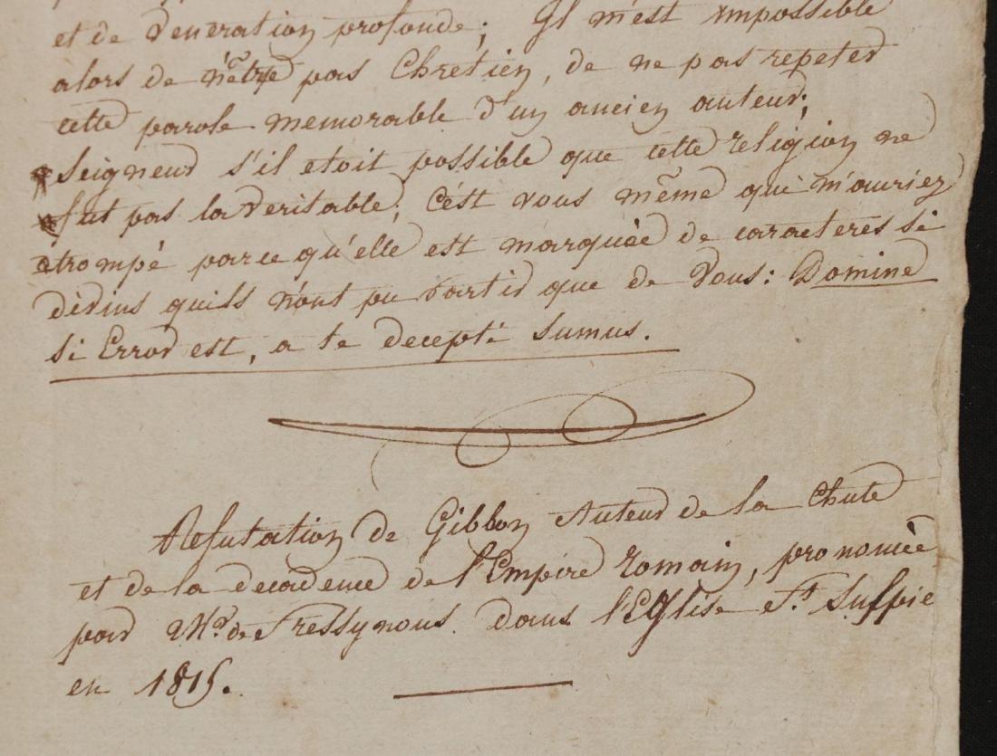 Original Manuscript.  Gibbon's History - 7