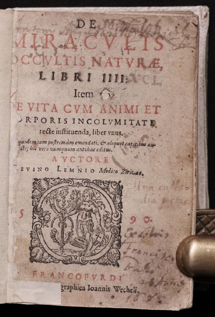 [Medicine]  Lemnius on Secrets of Nature, 1590 - 3