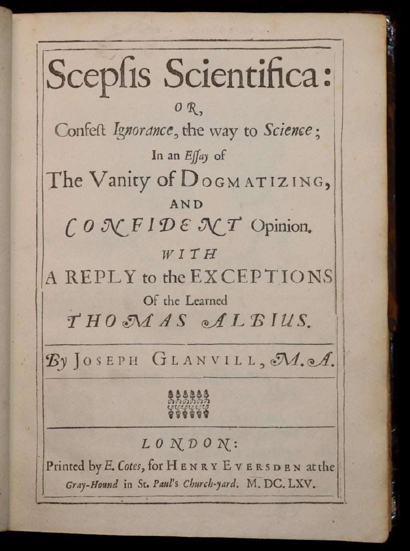[Philosophy]  Scepsis Scientifica, 1665