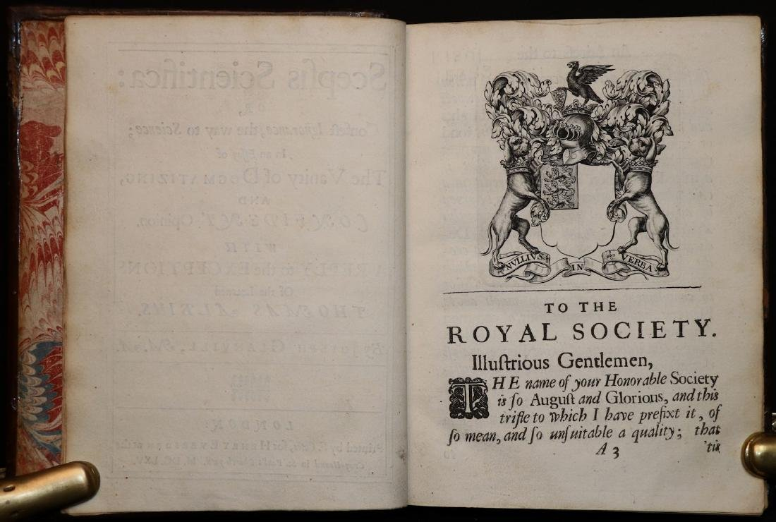 [Philosophy]  Scepsis Scientifica, 1665 - 3