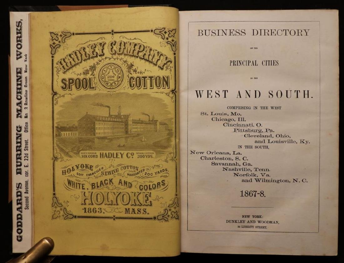 American 19th c. Business Directory, 1867