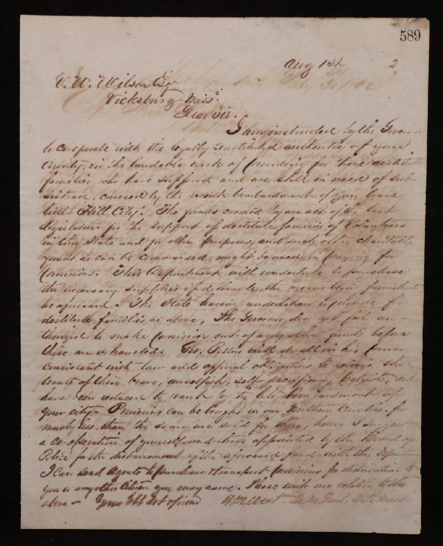 [Civil War, Confederate Gen. West, Pair of ALS] - 2