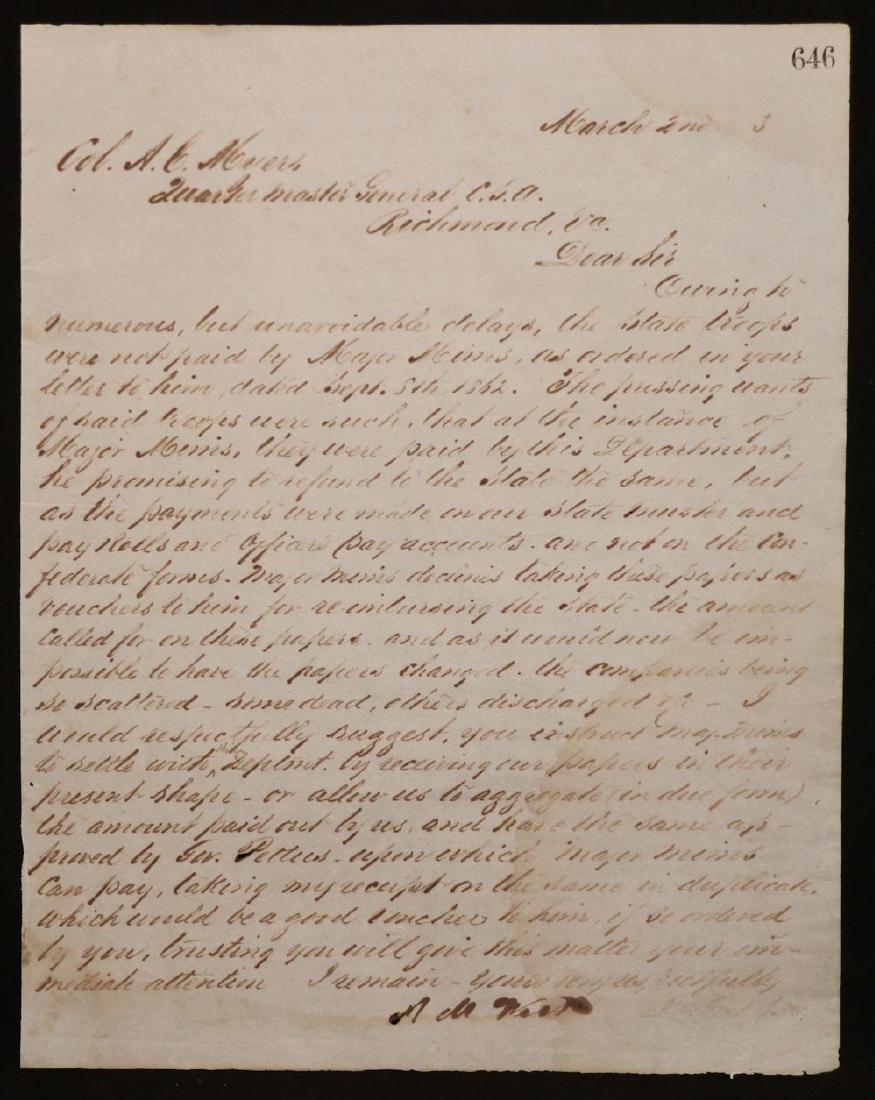 [Civil War, Confederate Gen. West, Pair of ALS] - 5