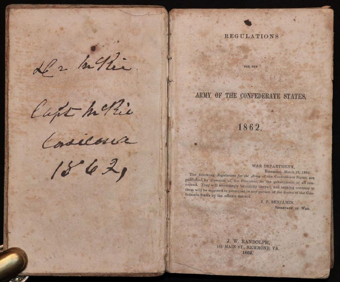 [Confederate Regulations, McKie's Copy, 1862]