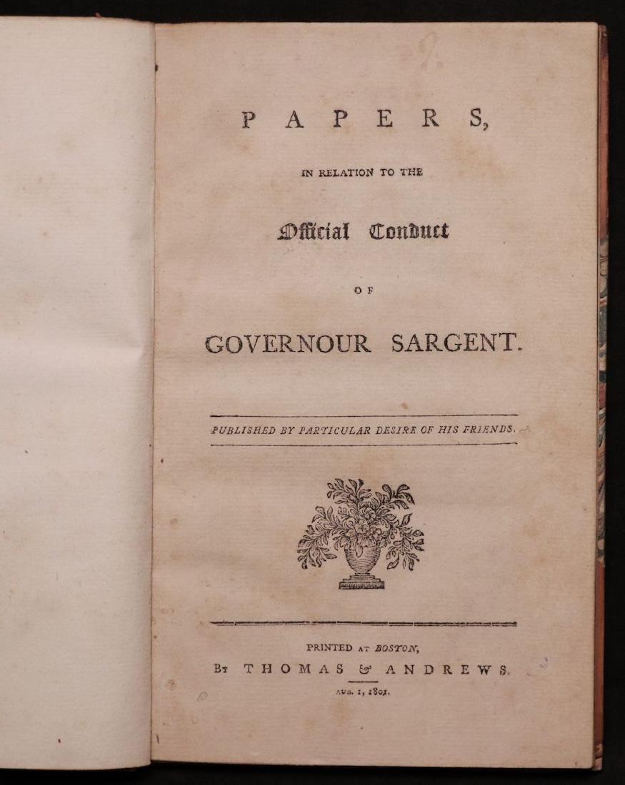 [Mississippi] Conduct of Gov. Sargent, 1801 - 3