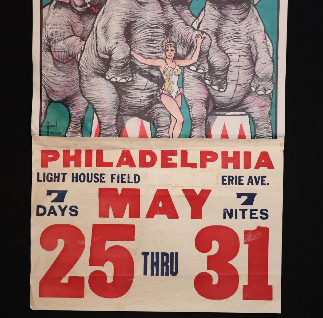 Cristiani Bros Circus Poster, Philadelphia, 1950s - 4