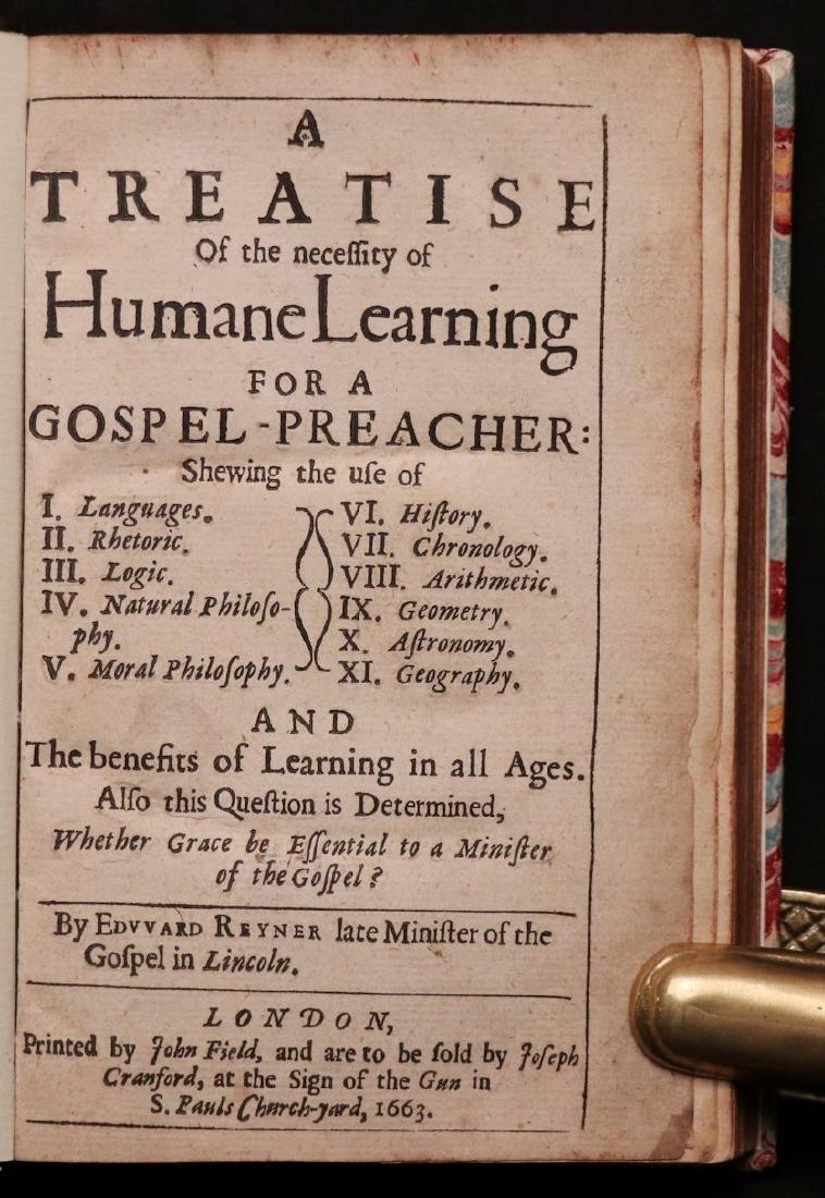 Treatise on Humane Learning, 1663 - 2