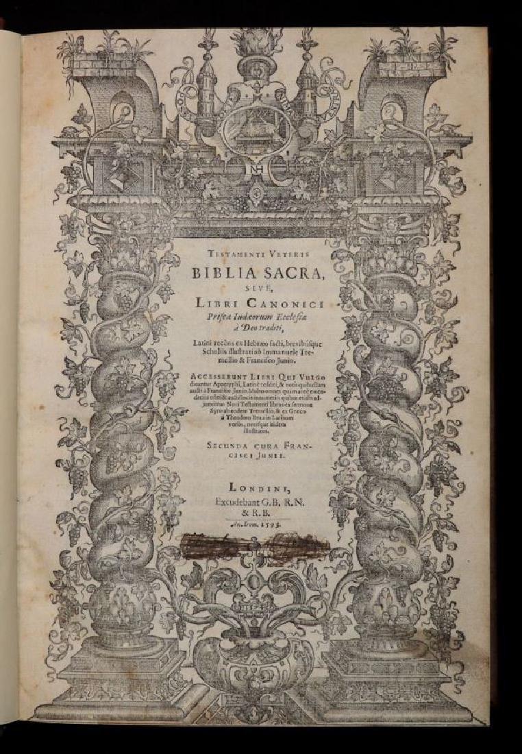 [Bible]  Biblia Sacra, London, 1593, Folio