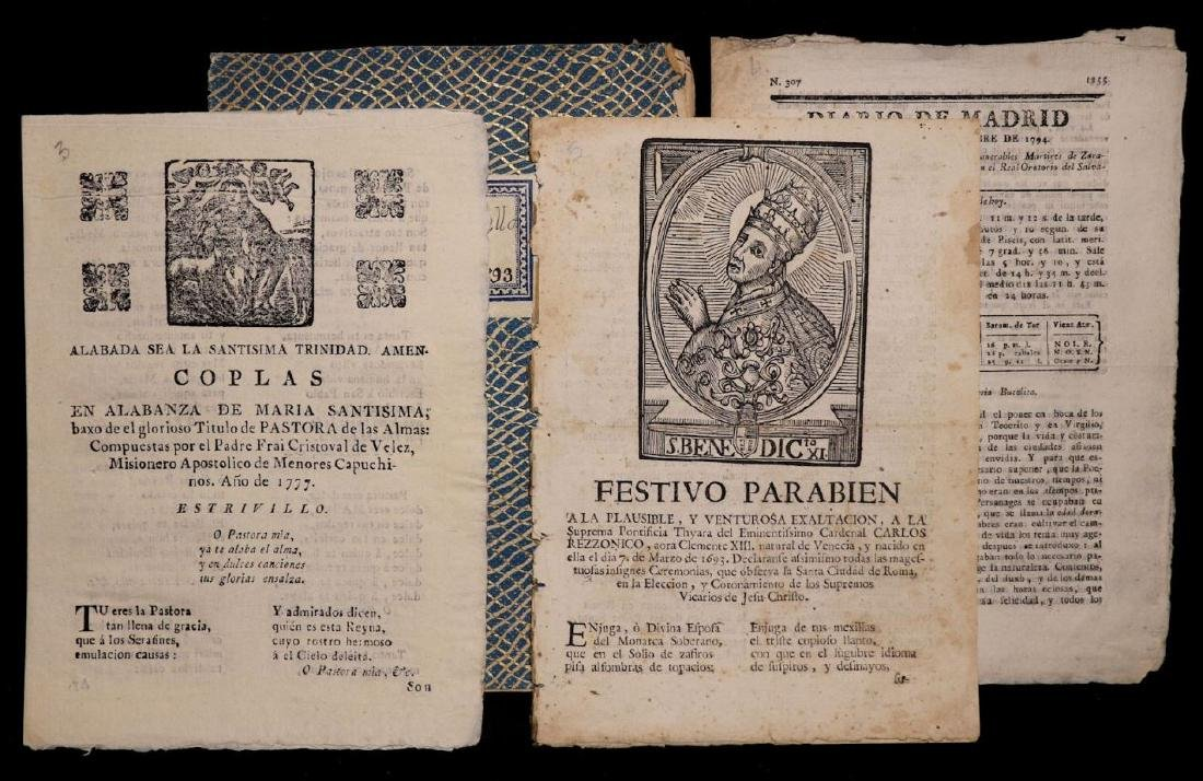 18th c. Spanish Tracts, Lot of 4