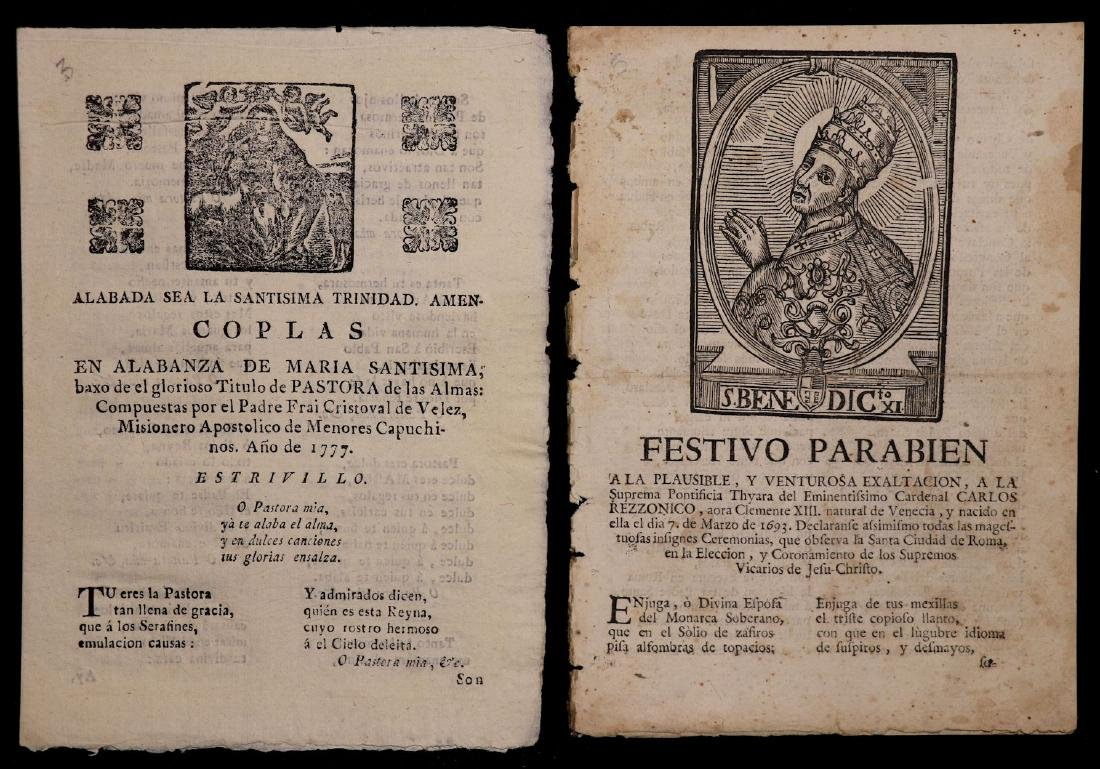 18th c. Spanish Tracts, Lot of 4 - 2