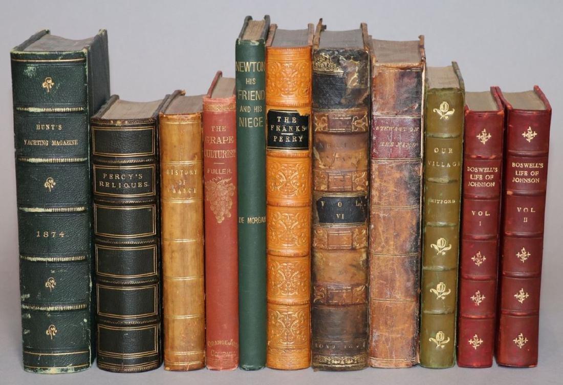 [Bindings, Literature, History, 11 volumes]