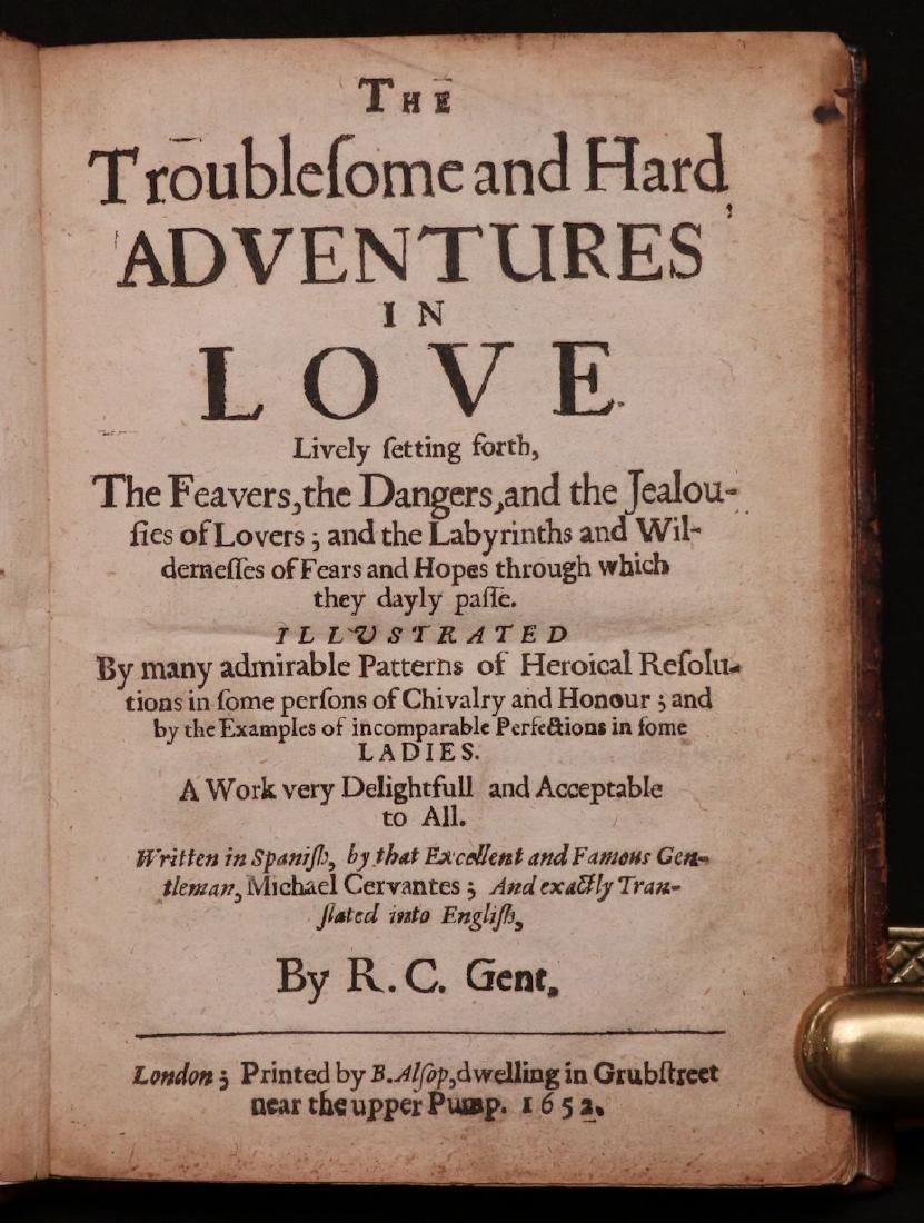 Cervantes.  Adventures in Love, 1652