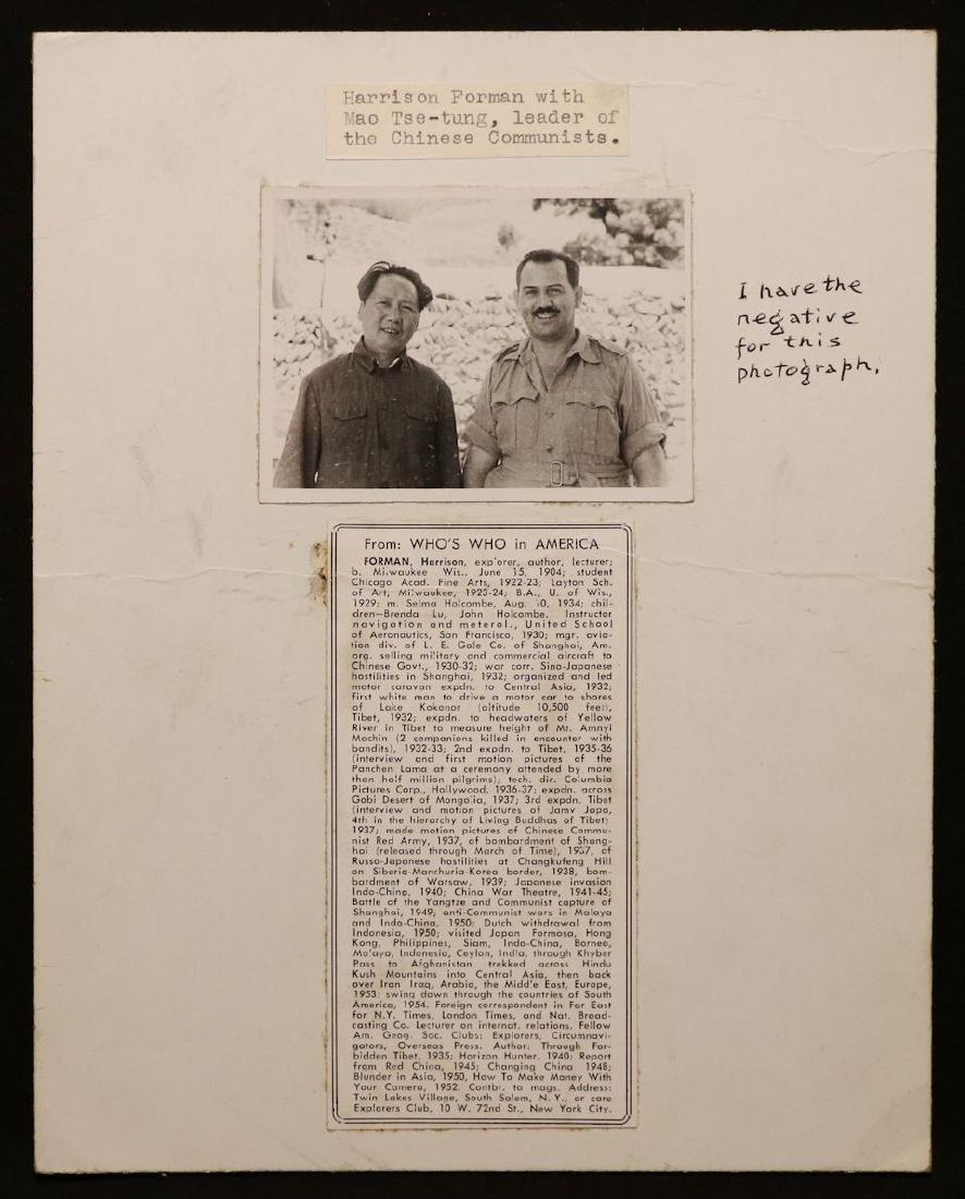 [Harrison Forman, Mao Zedong, Photo + Books] - 3