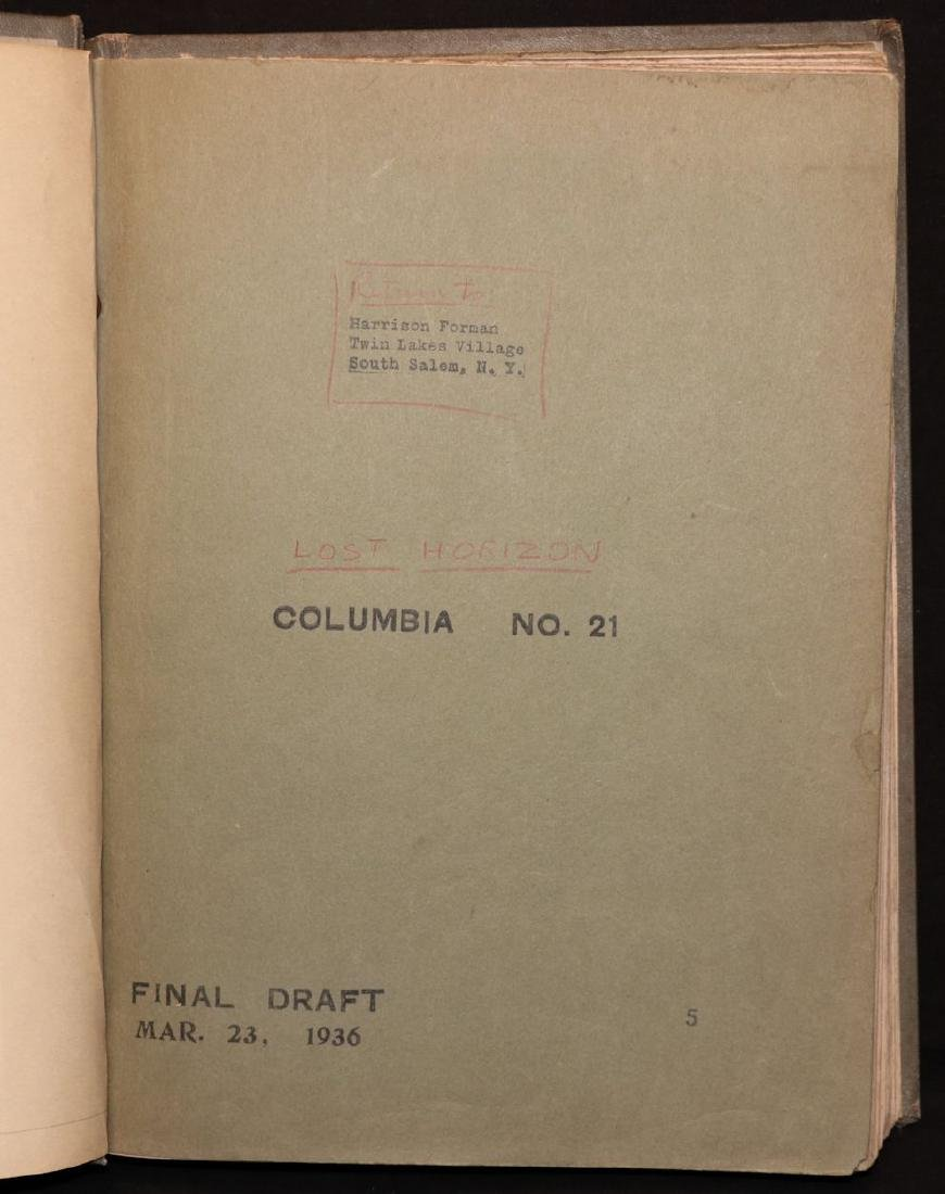 "[Harrison Forman's Copy, ""Lost Horizon"" Script] - 3"