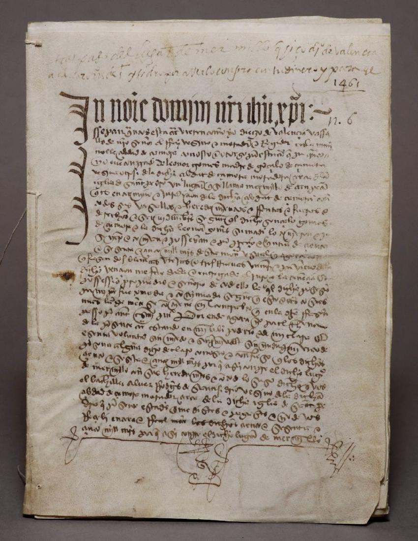 15th c. Manuscript on Vellum