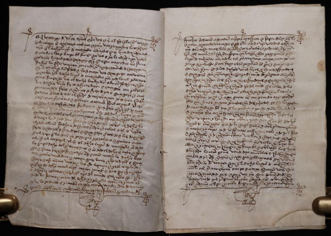 15th c. Manuscript on Vellum - 3