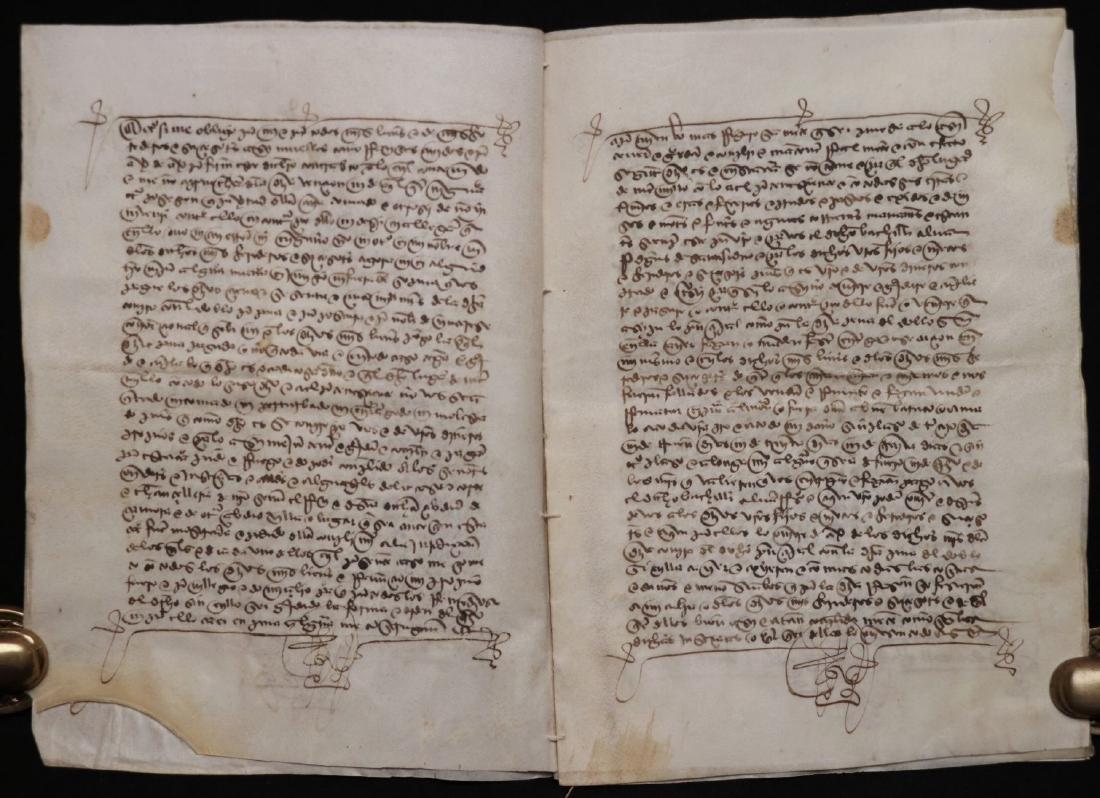 15th c. Manuscript on Vellum - 4