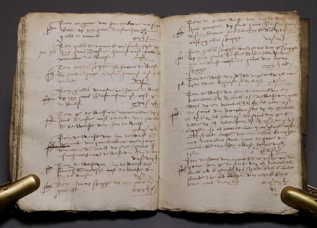 16th c. Dutch Manuscript Account Book