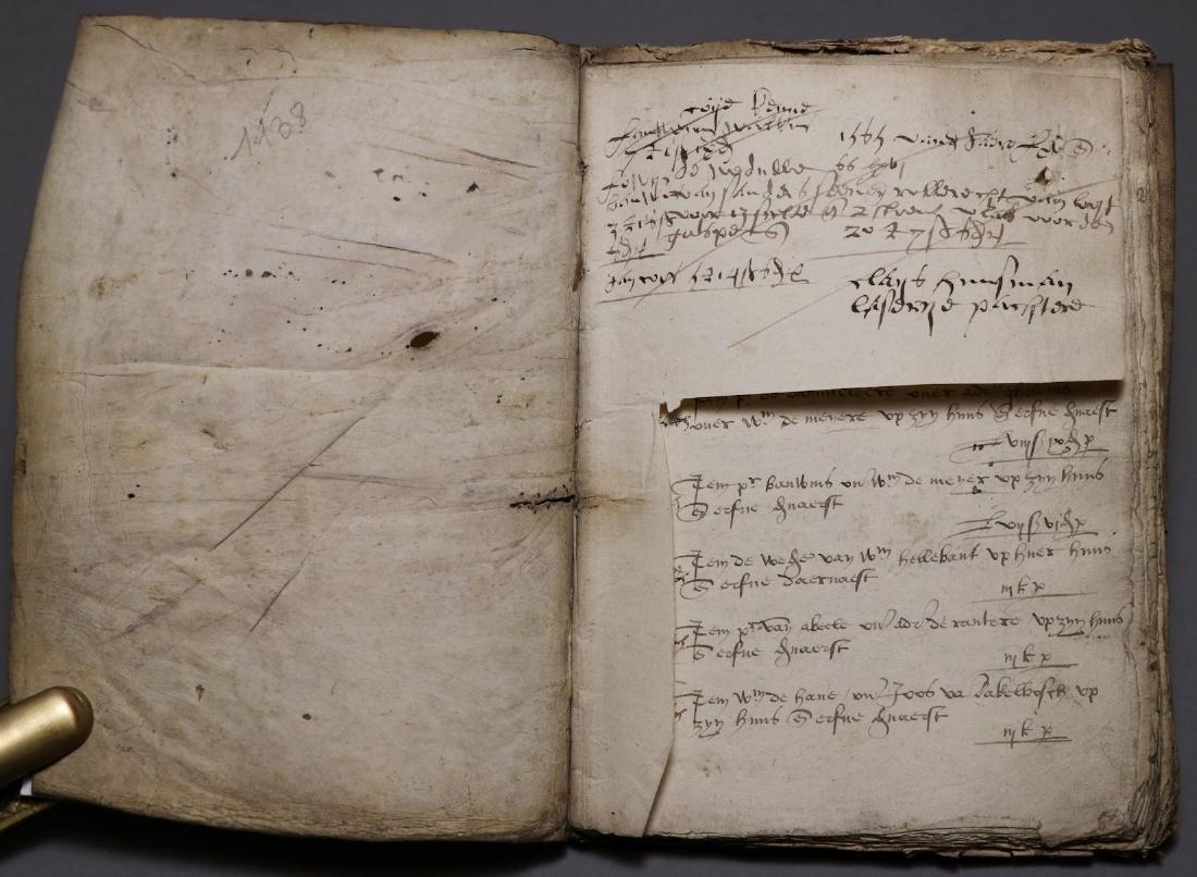 16th c. Dutch Manuscript Account Book - 2