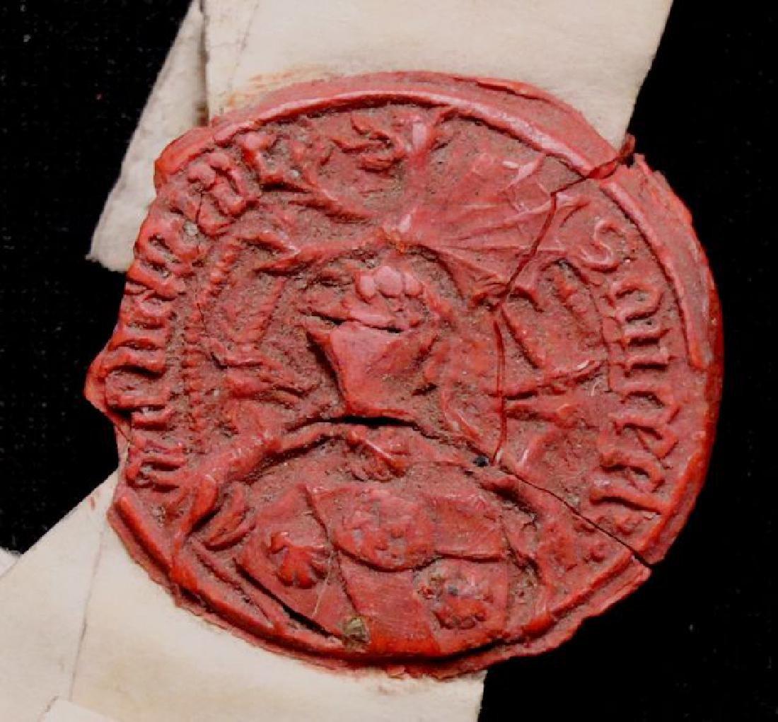 Medieval Manuscript Document, Vellum, Seals - 5
