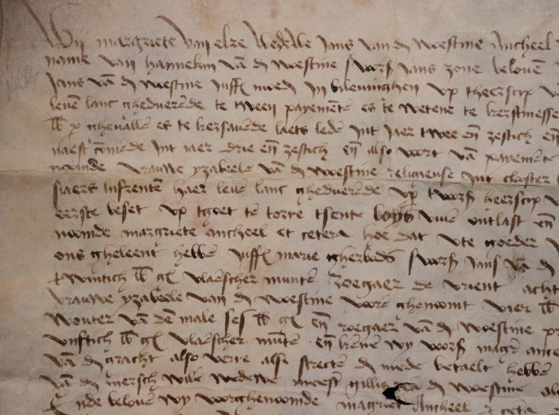 Medieval Manuscript Document, Vellum, Seals - 6