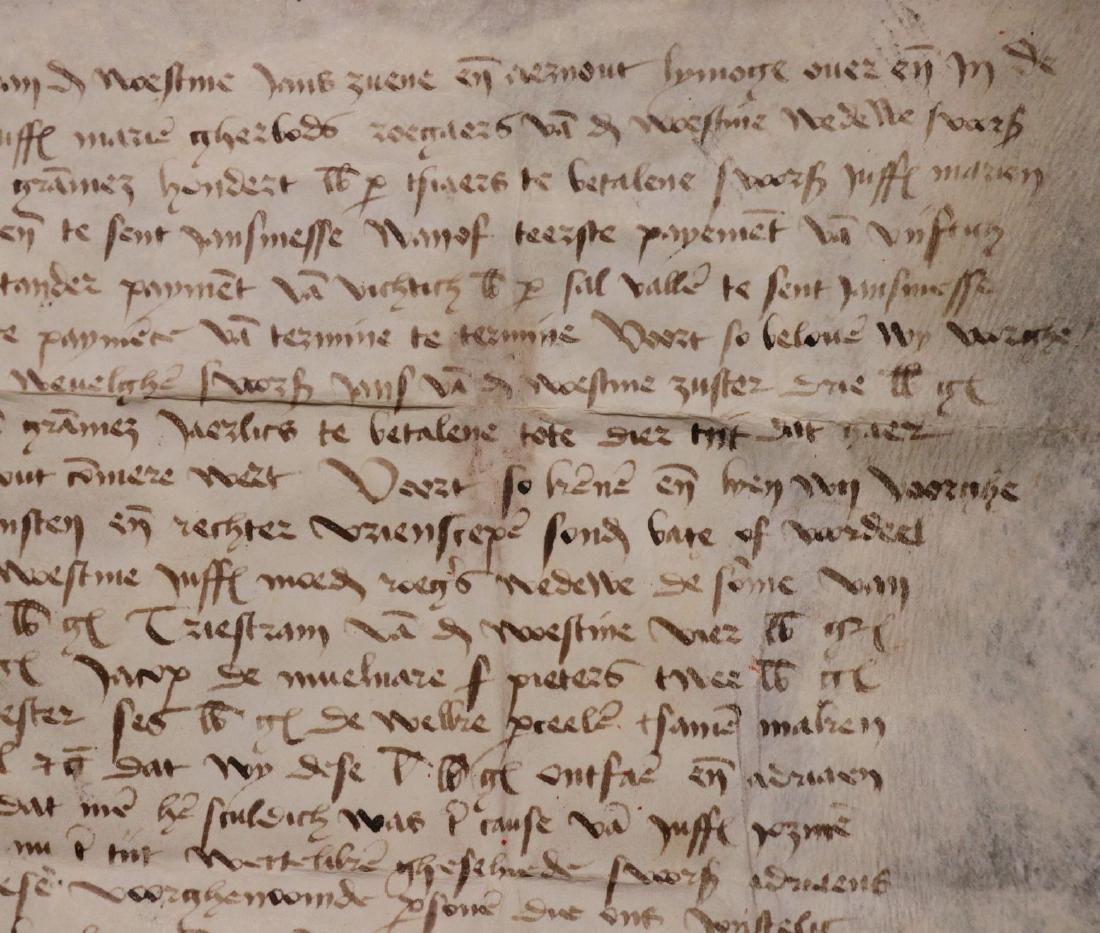 Medieval Manuscript Document, Vellum, Seals - 7