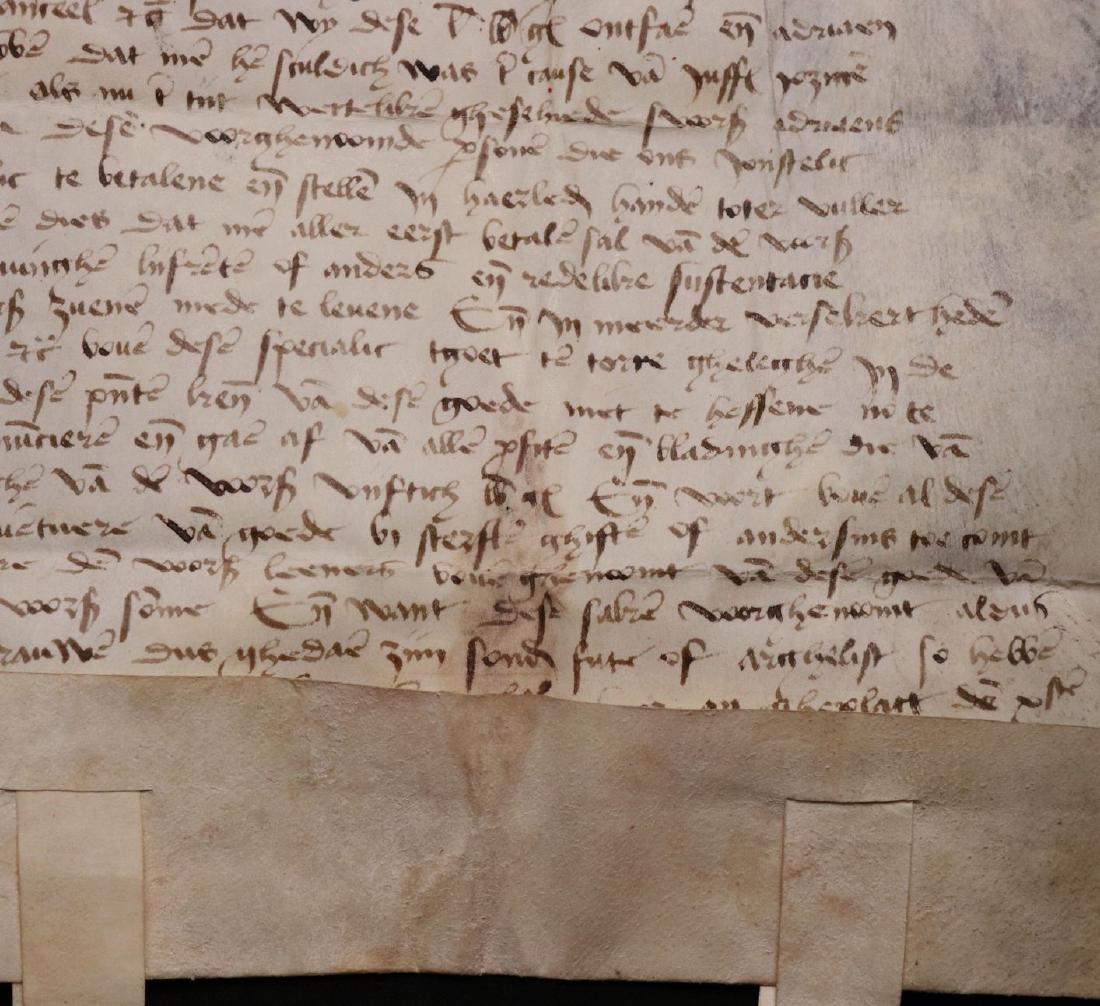 Medieval Manuscript Document, Vellum, Seals - 9