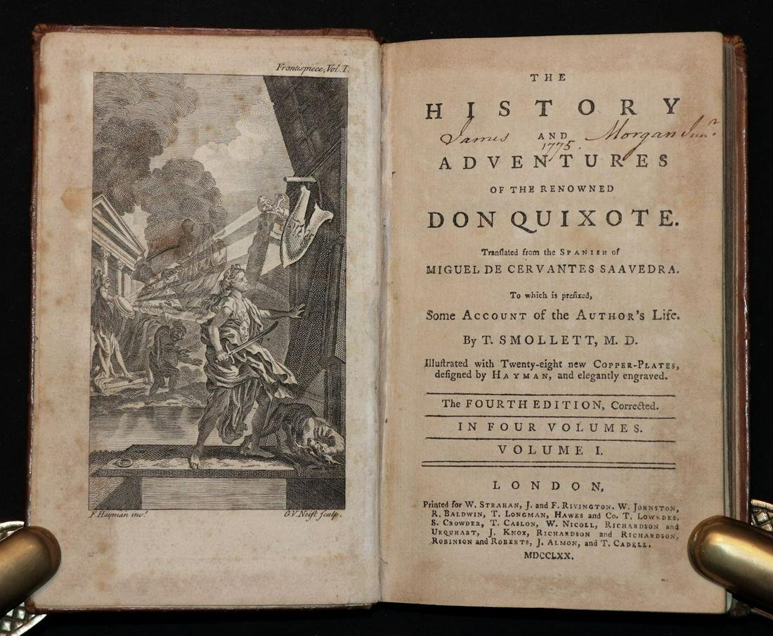 [Illustration]  Don Quixote, 1770, 4 v. Set