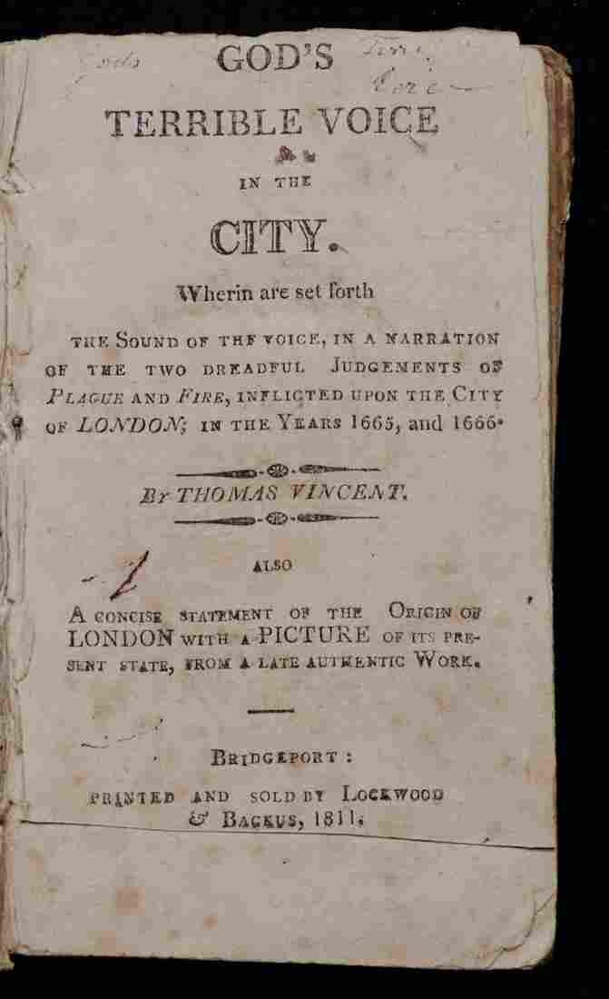 Early American Imprint, London Fire, God's Wrath