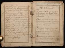 Czech Manuscript Prayer Book Early 19th c