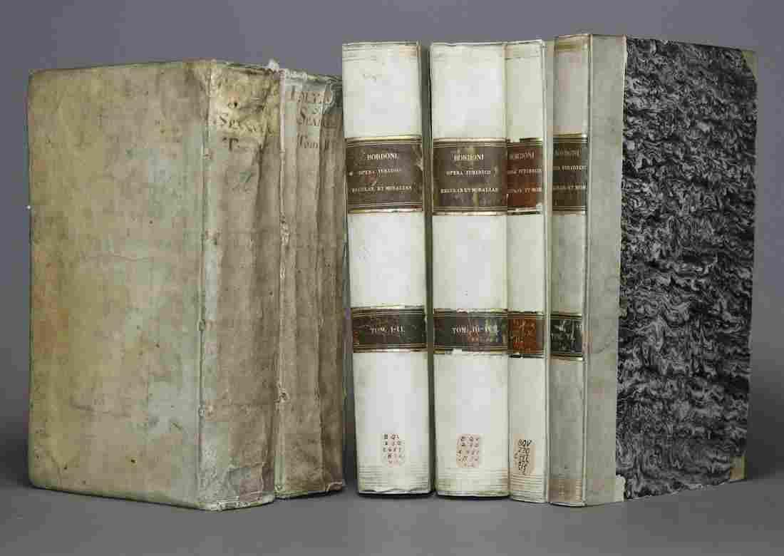 [Period Bindings, Folios, 2 Works in 6 vols]