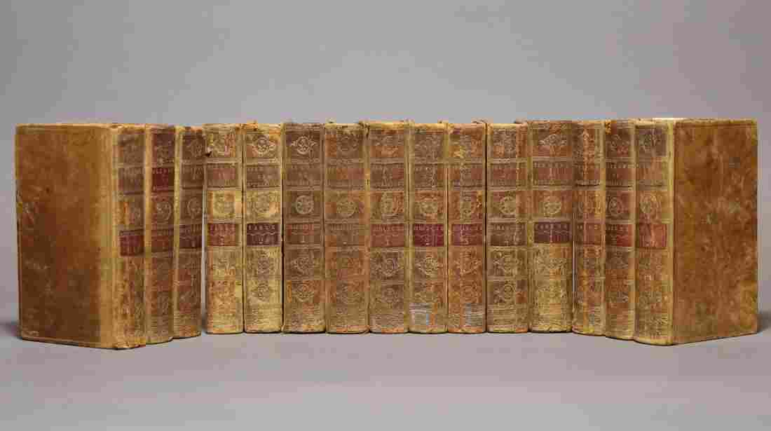 [Period Bindings, 18th c., Tree- Marbled, 15v]