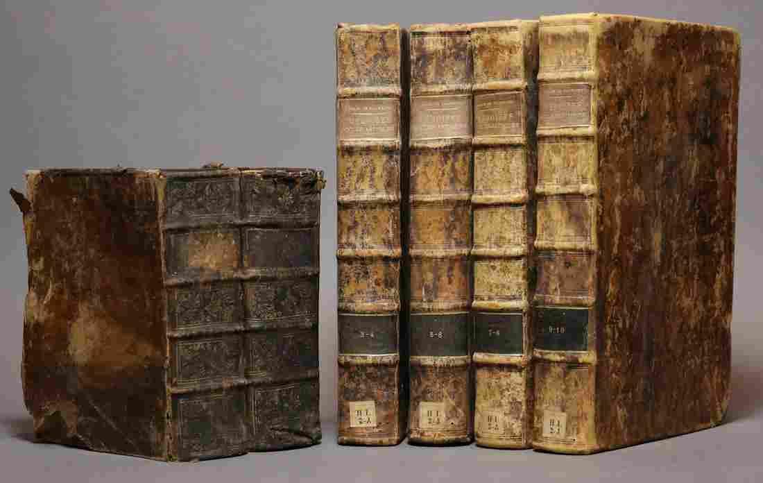 [Period Bindings, Folios, 18th c., 6 vols]