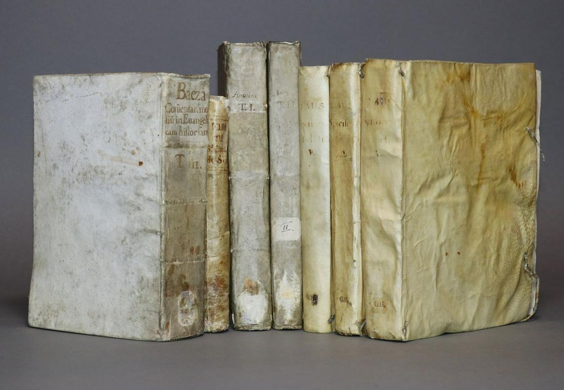 [Period Bindings, Vellum, Quartos, 7 vols.]