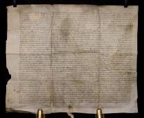 15th c Dutch Manuscript Document on Vellum