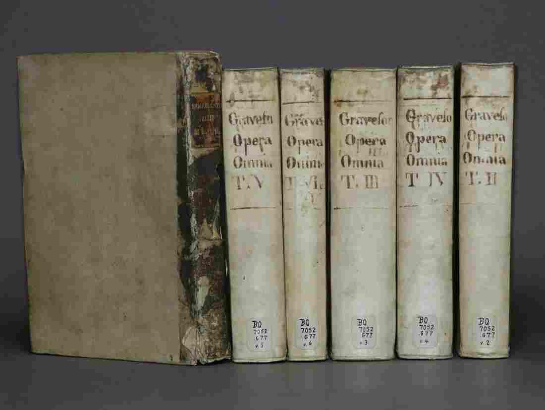 [Period Bindings, Vellum, Quartos, 6 vols.]