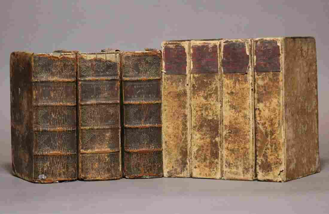 [Period Bindings, Octavo, 7 vols, 17th-18th c.]