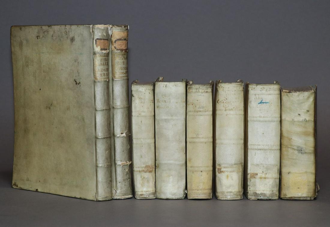 [Period Bindings, Vellum, 4to & 12mo, 7 vols.]