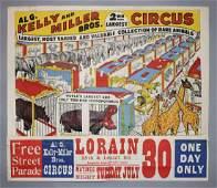 Kelly  Miller Bros Circus Poster