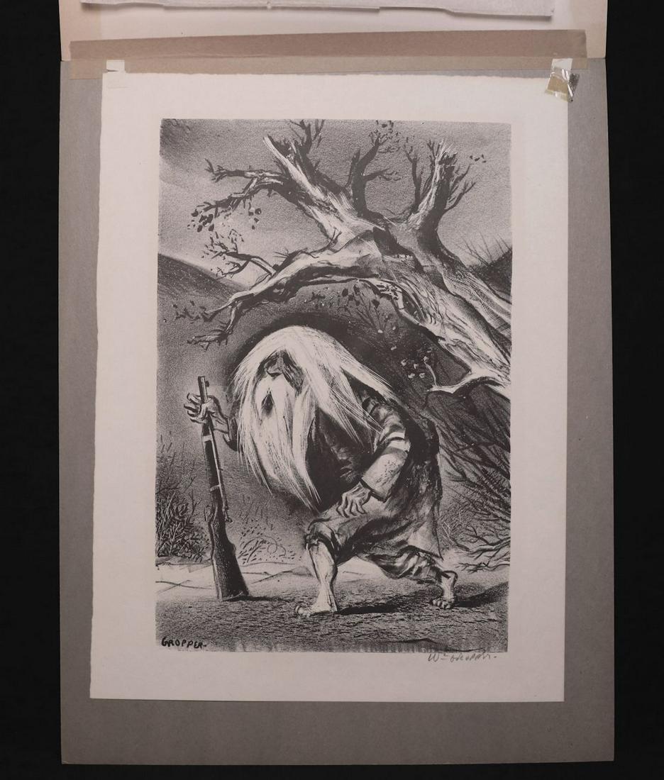 Pair of SIGNED William Groper Lithographs