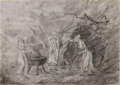 Large Pencil Drawing Witches of Macbeth