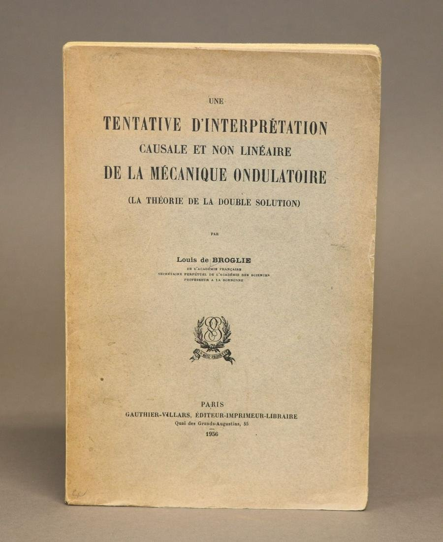 [Wave Mechanics, Quantum Theory] de Broglie, 1st ed.