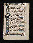 Illuminated Medieval Psalter Leaf